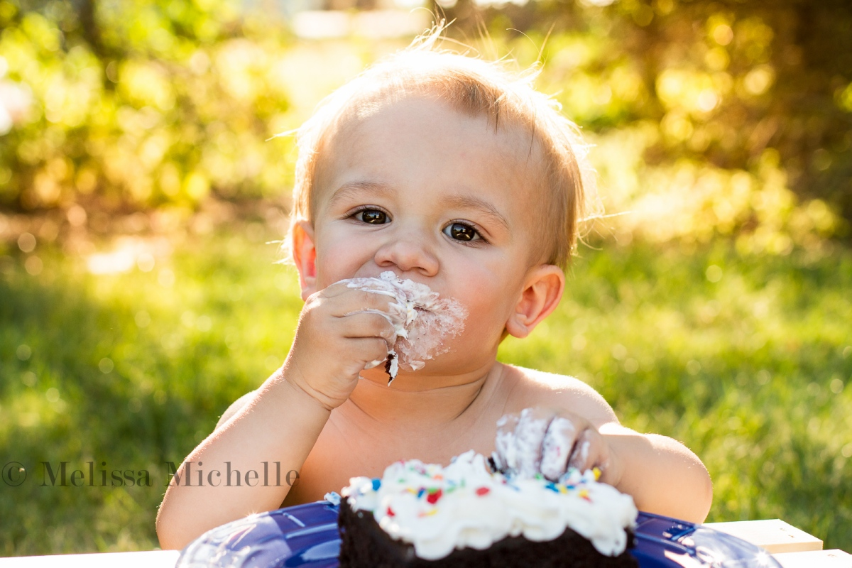 H Turns One | Central Illinois Children Photography